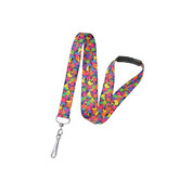 "Pre-printed 3/4"" Paint Splatter Lanyards   Pack of 100"