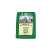 Color-Frame Badge Holder with Slot/Chain Holes - 100