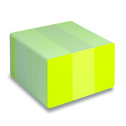 Blank Fluorescent PVC Cards, CR80 30mil - 500 count-Fluorescent Yellow