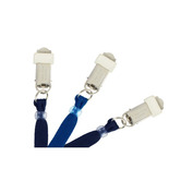 "Premium 3/8"" Flat Braided Lanyards - Card Clamp   Pack of 100"