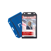 Rigid Badge Holders with Rear Card Pocket   Pack of 50